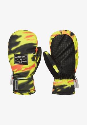 Gloves - angled tie dye sulphur spring