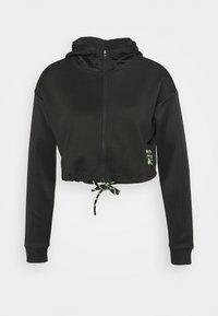 ONLY Play - ONPJUDIE CROPPED ZIP HOOD - Training jacket - black - 3