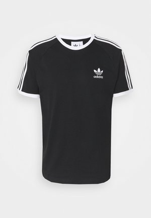 3 STRIPES TEE UNISEX - Camiseta estampada - black