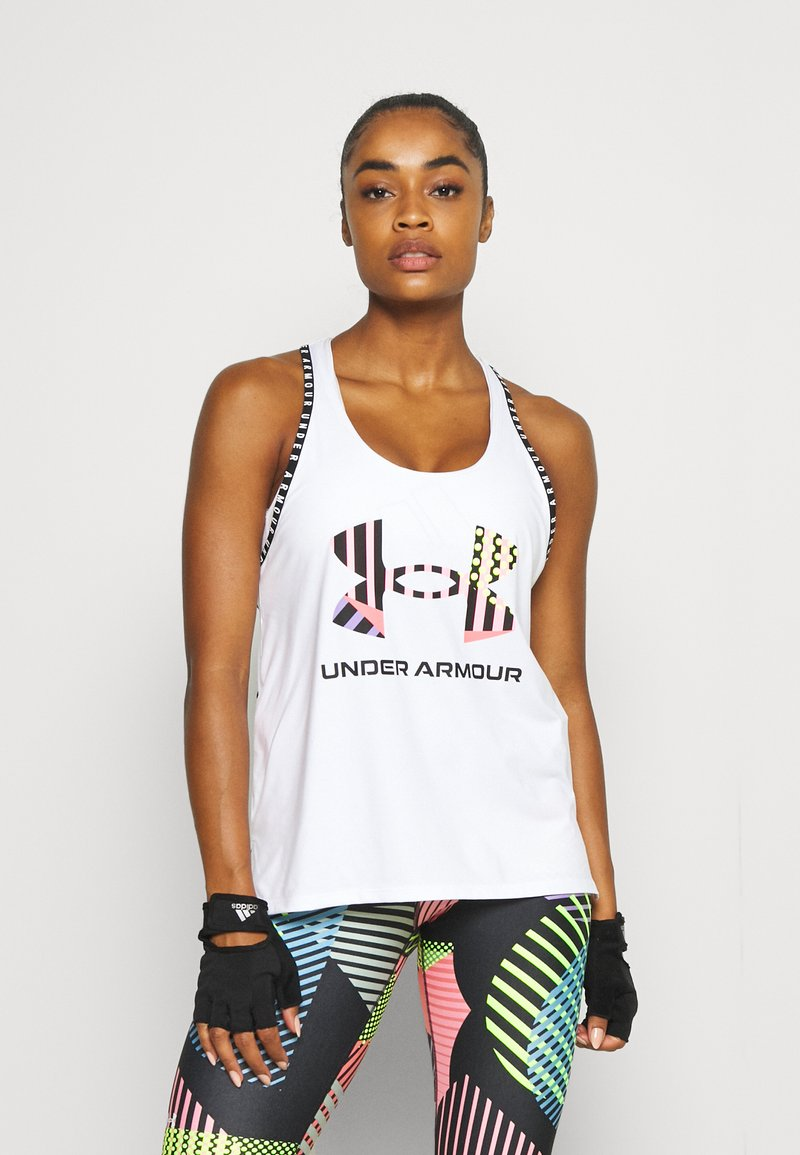 Under Armour - GEO KNOCKOUT TANK - Top - white
