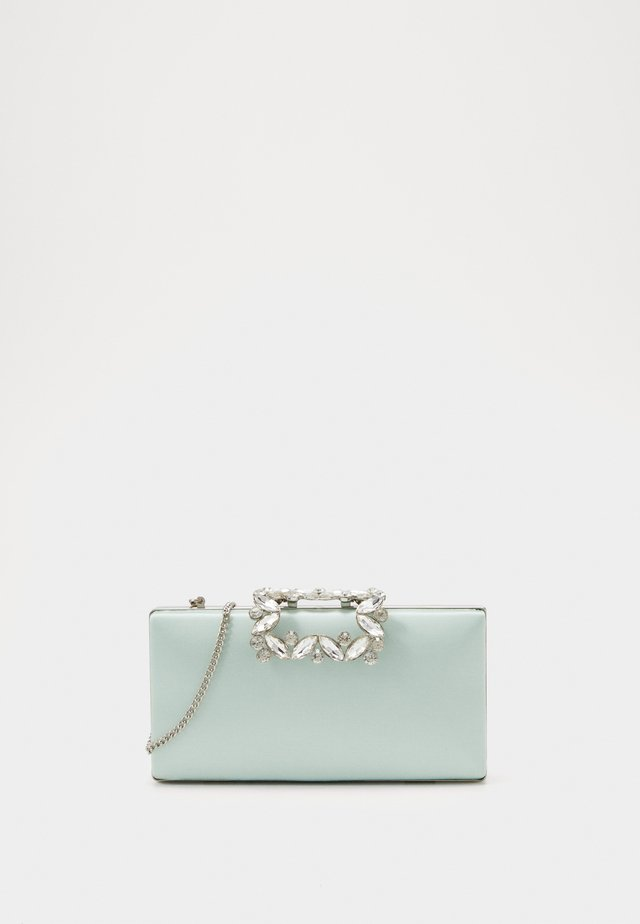 Clutch - sage/silver-coloured