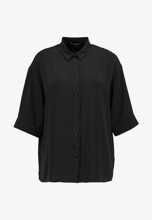 TAMRA BLOUSE - Button-down blouse - solid black