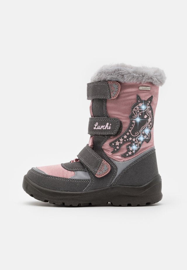 KATINKA SYMPATEX - Winter boots - grey/dark pink