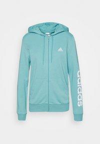 Zip-up sweatshirt - mint ton/white
