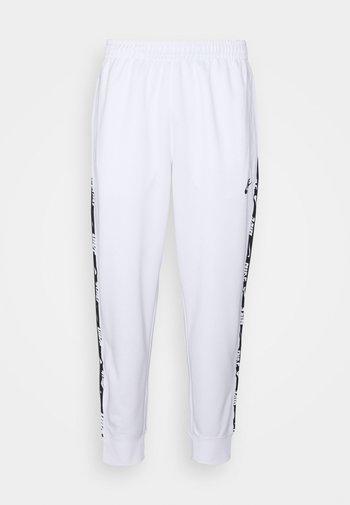 REPEAT - Pantaloni sportivi - white/black