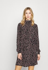 Pieces - PCDALLAH DRESS - Shirt dress - black / light pink - 0
