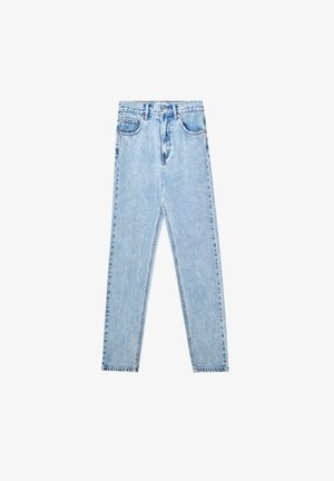 MOM - Jean boyfriend - mottled light blue