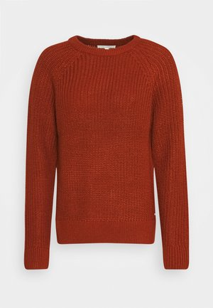 HALFCARDIGAN - Jumper - rust orange