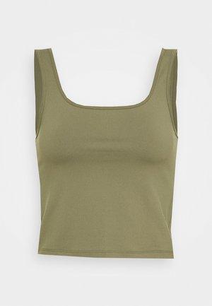 BARE CROP SEAMLESS BOYTANK - Top - dark green