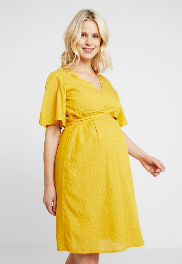 Jersey dress - nugget gold