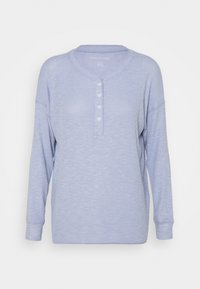 American Eagle - STITCHED HENLEY PLUSH - Long sleeved top - blue - 3