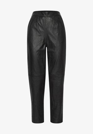 IHYOHANNA PA - Leather trousers - black