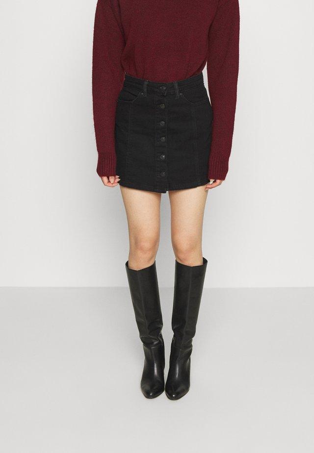 FALDA - Denim skirt - black