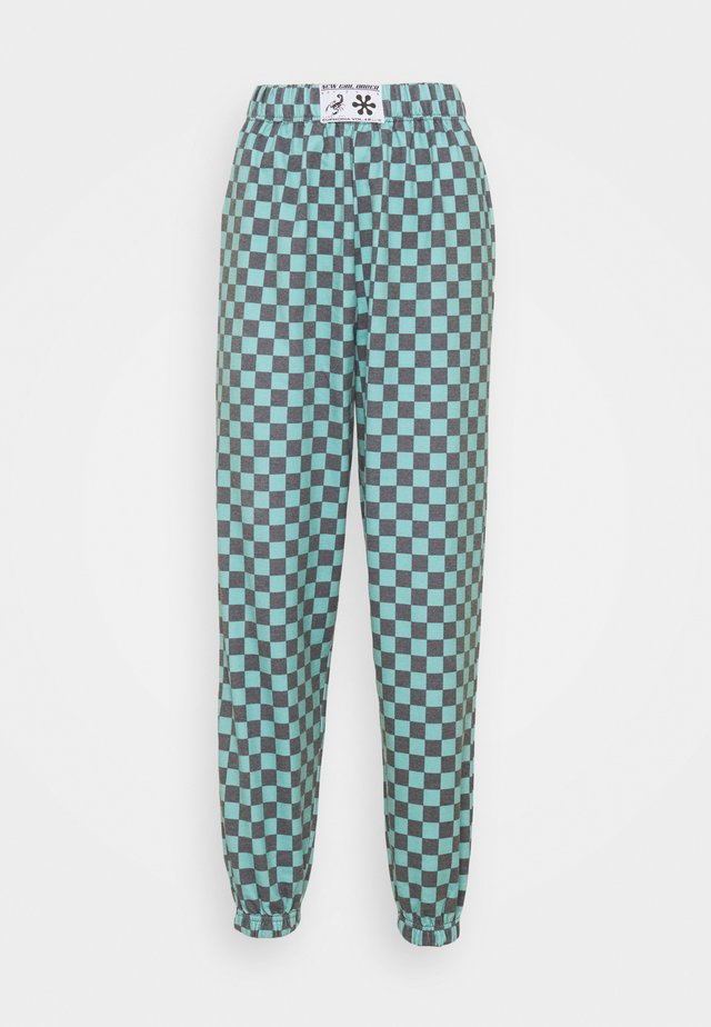 TEAL CHECKERBOARD TROUSER - Pantaloni sportivi - black/teal