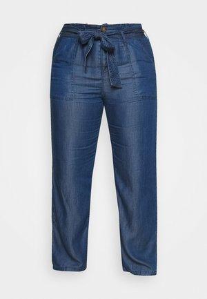 SOFT WIDE LEG PANT - Kalhoty - mid blue