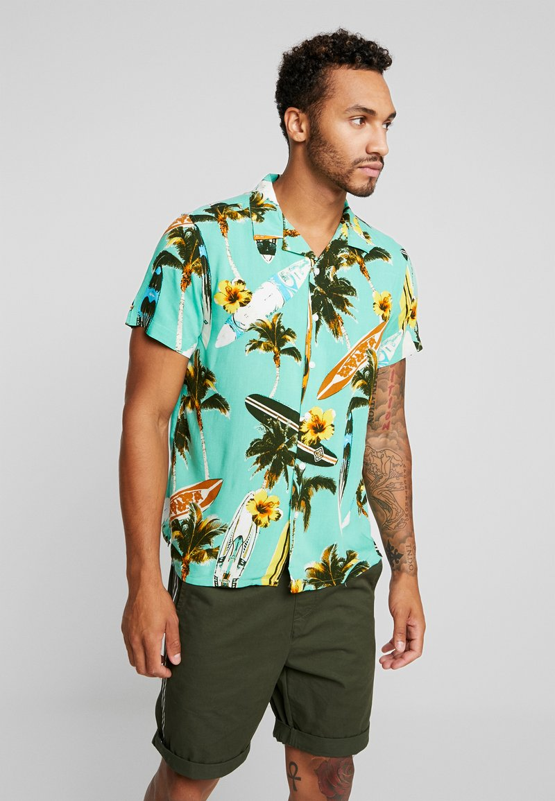 New Look - SURF BOARD TROPICAL - Shirt - turquoise