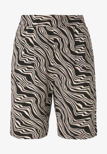 Shorts - black wavy design