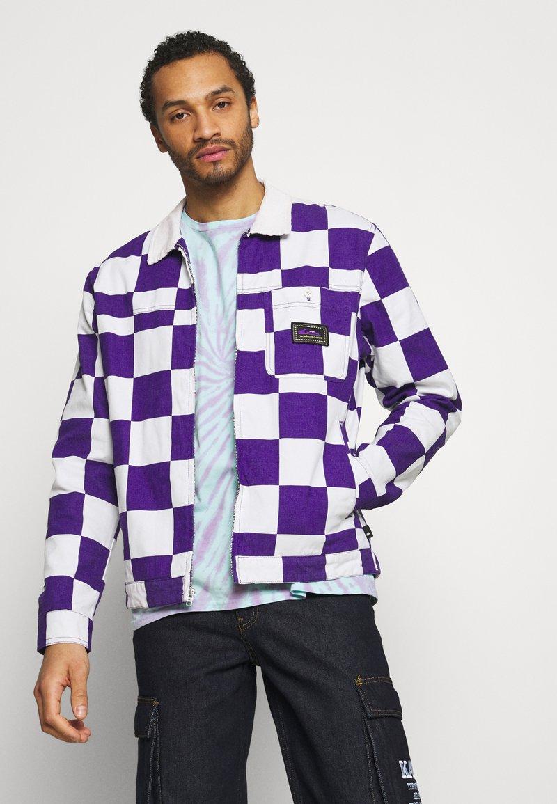 Quiksilver - BOX CHECKER JACKET - Summer jacket - prism violet