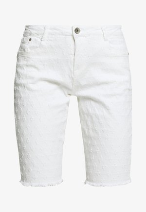 ROBINA BAIILY FIT - Denim shorts - chalk