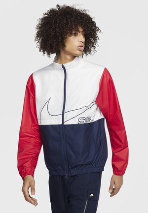 M NK SB TRACK JACKET - Training jacket - white/midnight navy/university red/black