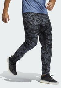 adidas Performance - 3 BAR CAMOUFLAGE DESIGNED4TRAINING PANTS - Träningsbyxor - black - 2