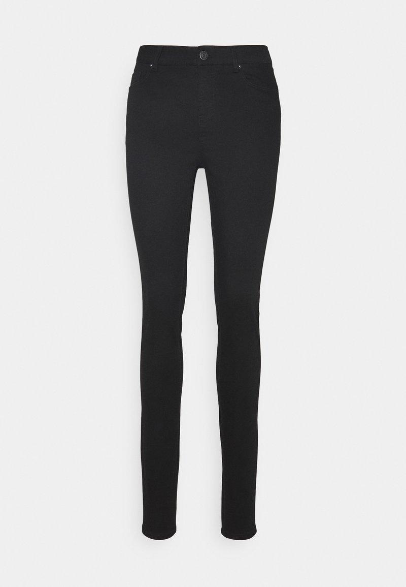 Vero Moda Tall - VMHOT SEVEN MR SLIM PUSH UP PANT - Trousers - black