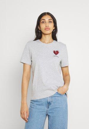 ONLKITA LIFE  - Print T-shirt - light grey melange