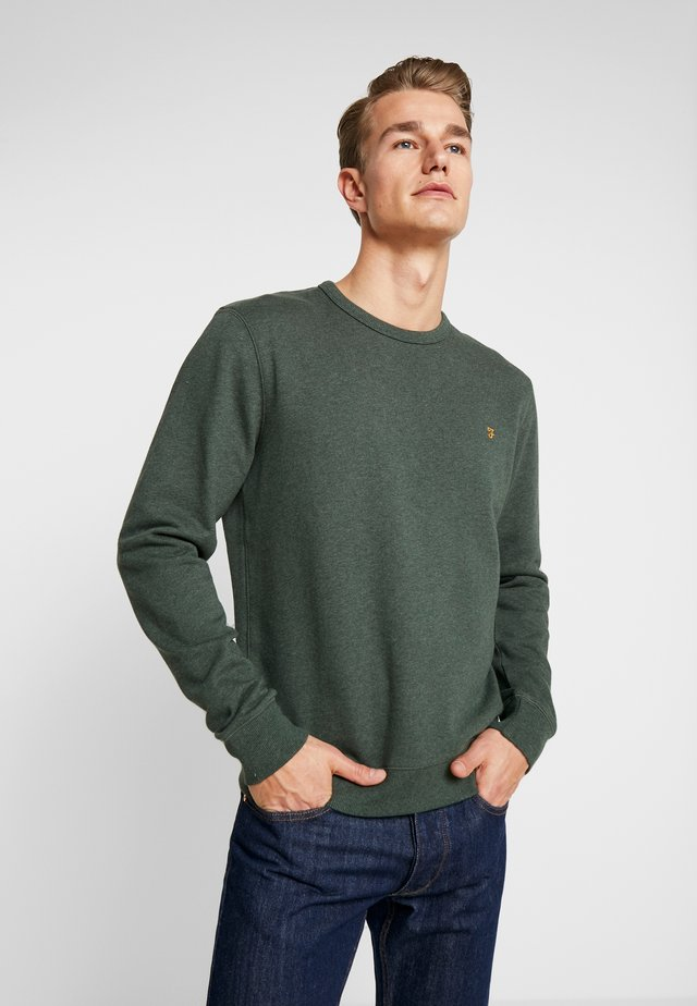 TIM CREW - Sweater - deep olive marl