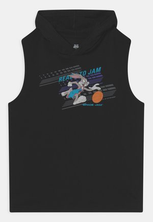SPACE JAM DOWN THE COURT HOODED UNISEX - Top - black
