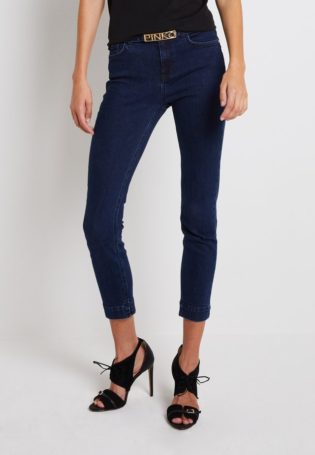 SABRINA TROUSERS - Jeansy Skinny Fit - dark blue
