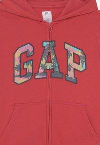 GAP - BOYS LOGO - Felpa con zip - weathered red - 2