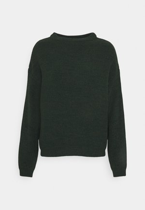 BAT SHAPE OVERSIZED - Jumper - dark green