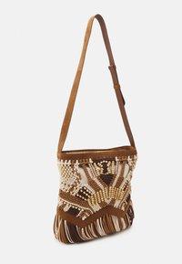 Alberta Ferretti - CROCHET SHOULDER BAG - Across body bag - brown - 1