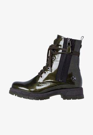 BY GUIDO MARIA KRETSCHMER - Platform ankle boots - khaki met pat