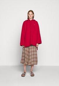 Rika - FLOW SKIRT - A-line skirt - brown/red - 1