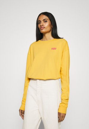 GRAPHIC OVERSIZE TEE - Top s dlouhým rukávem - dark yellow