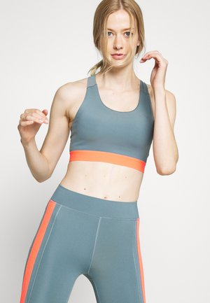 ONPSULA TRAINING BRA - Sports bra - goblin blue/fiery coral