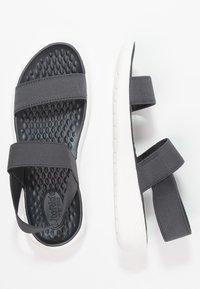 Crocs - LITERIDE - Sandals - black/white - 3