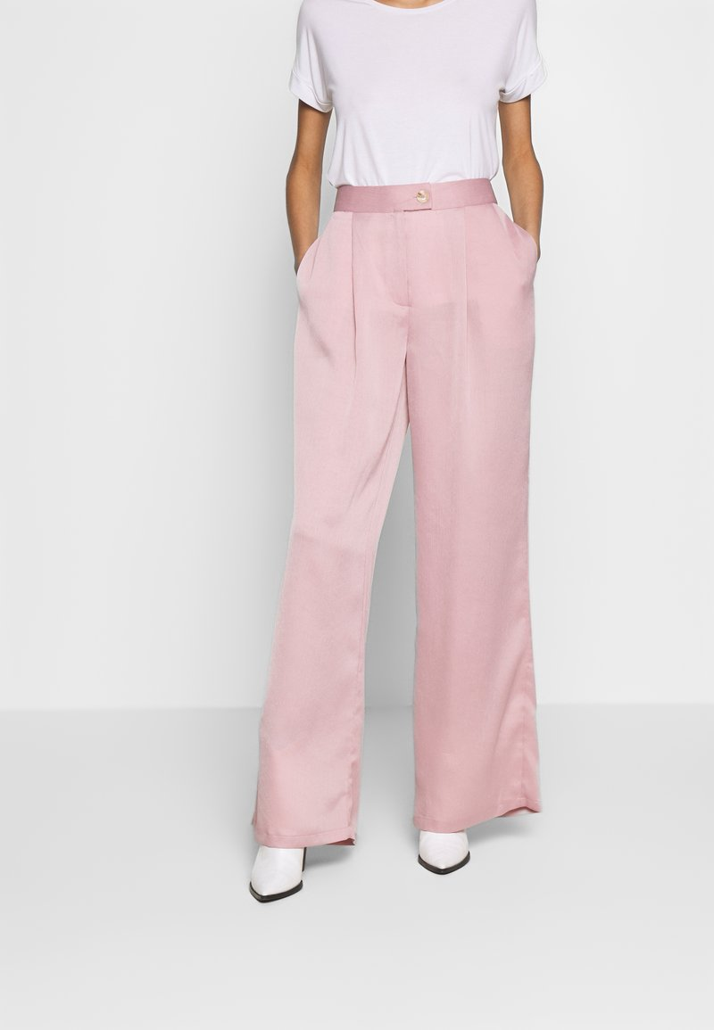 UNIQUE 21 - LUXE WIDE LEG TROUSERS - Pantalones - lilac