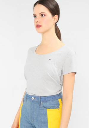 Print T-shirt - light grey heather