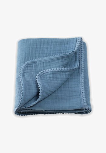 WITH LACE  - Muslin blanket - blue