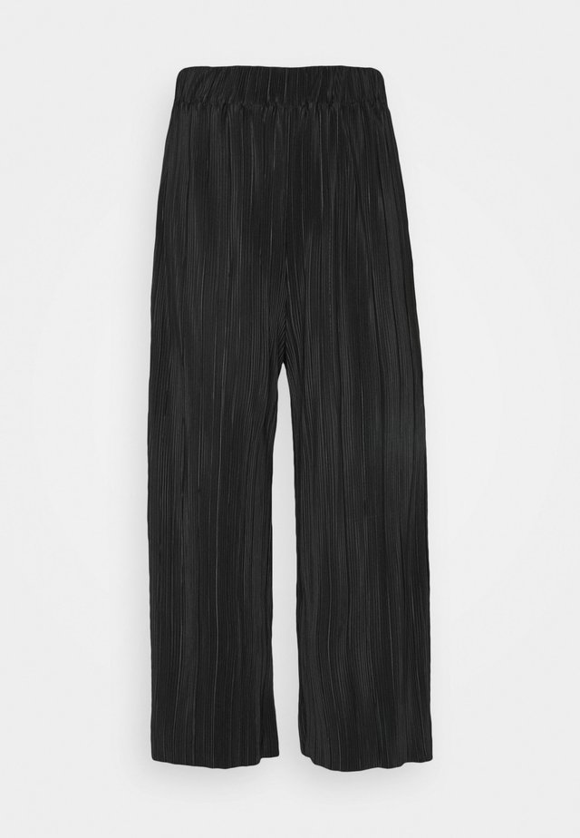 POPPY PLEATED CULOTTE - Stoffhose - black