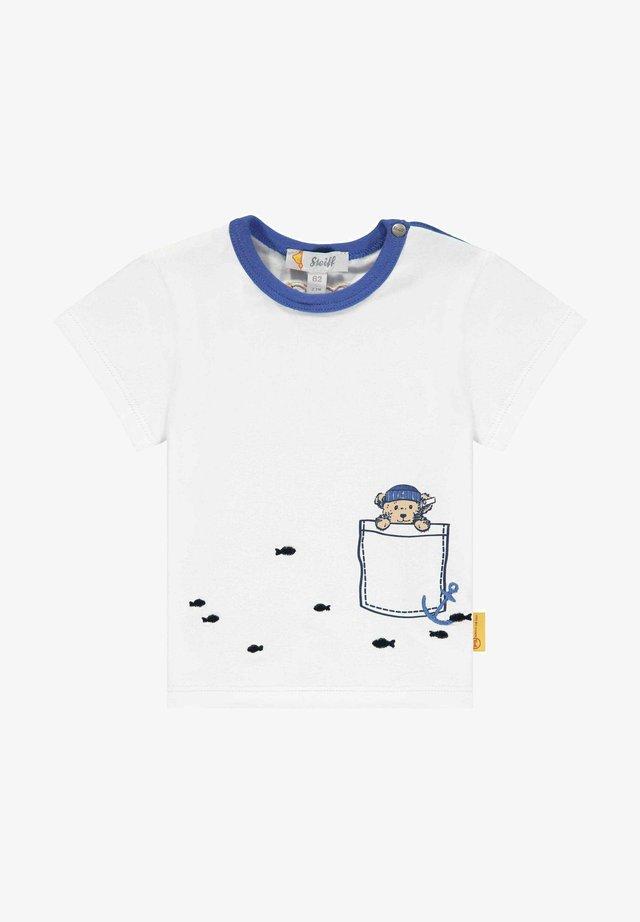 MIT MARITIMEN MOTIVEN - T-shirt print - bright white