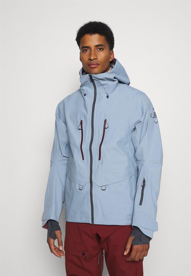 Salomon - OUTPEAK SHELL - Ski jacket - ashley blue