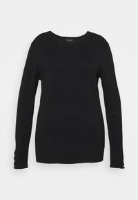 Dorothy Perkins Curve - FOREST CUFF CREW NECK JUMPER - Pullover - black - 0