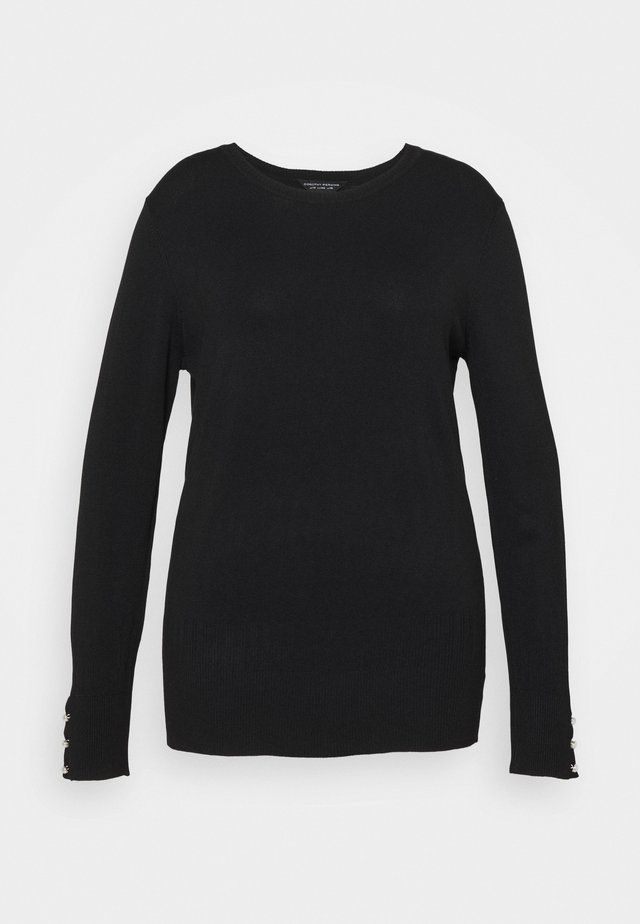 FOREST CUFF CREW NECK JUMPER - Neule - black