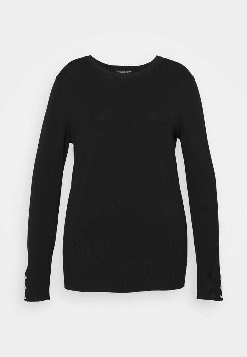 Dorothy Perkins Curve - FOREST CUFF CREW NECK JUMPER - Pullover - black