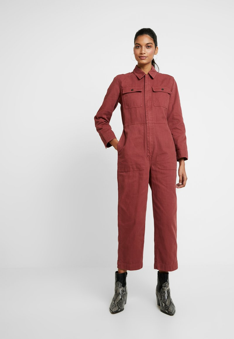 Madewell - HOLIDAY COVERALL - Jumpsuit - rusted burgundy