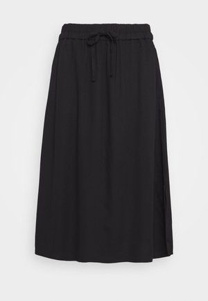SKIRT SOLID - A-linjainen hame - deep black