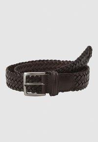 Anderson's - BELT UNISEX - Pletený pásek - dark brown - 1